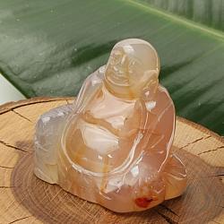 Carneol Buddha 002 50x50x30mm Steinbuddha