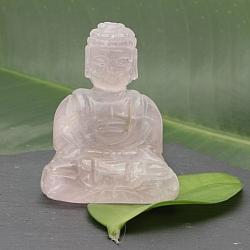 Unikat Buddha 001 Rosenquarz 55x40x30mm