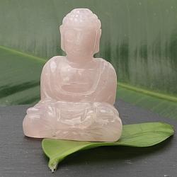 Unikat Buddha 002 Rosenquarz 55x40x30mm