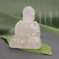 Unikat Buddha 003 Rosenquarz 55x40x30mm