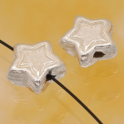 Silver pearl 925 star slightly matt 8mm