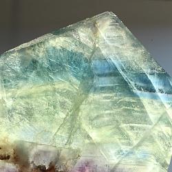 Edelsteinscheibe Fluorit Regenbogen Nr. F10  68x72x10mm