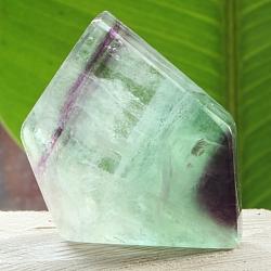 Edelsteinscheibe  Fluorit Regenbogen Nr.1 35x41x10mm