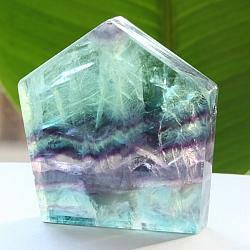 Edelsteinscheibe  Fluorit Regenbogen Nr.10 45x46x8mm