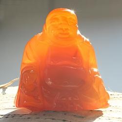 Carneol karneol Figur Buddha 005 aus echt Edelstein 50x50x30mm