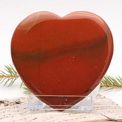 tiefrotes Herz Handschmeichler Roter Jaspis flach 006 80x80x10mm