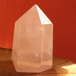 Unikat 001 Obelisk rose quartz gemstone tip 50x30x23mm