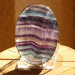 Rainbow fluorite soapstone calibrated large 70x50mm exactly 008