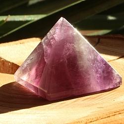 Fluorit Pyramide 006 lila violette Stein Pyramide