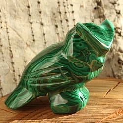 Owl made of malachite gemstone 001 40x60x20mm