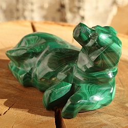 Dog Bello lying Malachite 001