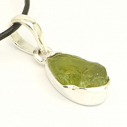 Peridot Pendant Facetted Sterlingsilver 925 17x9 mm