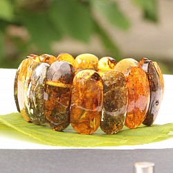 Bernstein Armband Einzelstück Naturbernstein 32Gramm 26-32mm hoch