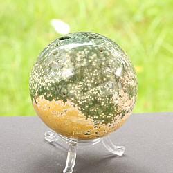 Ozean Jaspis Kugel Steinkugel aus Ozean Achat 63mm