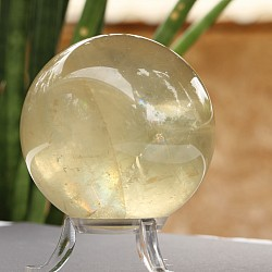 Calcite Sphere 62 mm transparent ans yellow