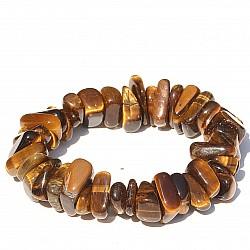 Tigerauge Trommelstein - Armband 12-14 mm Perlen