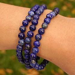 Lapis Lazuli Gemstone Bracelet Beads 4 mm