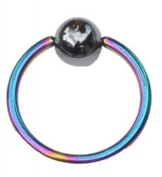 Titanium Klemmkugelring Regenbogen Standard 1,6mm Piercingring