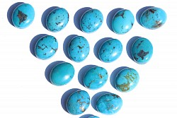 Turquoise Nature Cabochon 10 * 8mm lighter batch