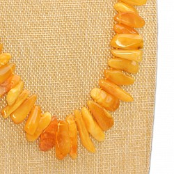 Amber Yellow necklace Amber necklace 63cm made of natural amber natural yellow amber