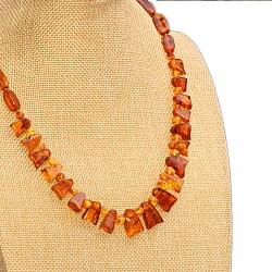Amber cognac necklace collier 48cm