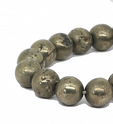 Pyrit Perlen A 10mm Edelstein Kugelperlen 40cm