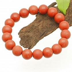 Jaspis Rot Armband Matt 10mm Perlen