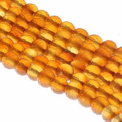Carnelian Beads Same Color Faceted 6mm / 40cm