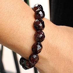 Granat Edelstein Armband facettiert 12 mm