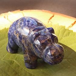 Sodalith Flusspferd Edelstein Hippo 50mm