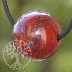 Red Jasper Ball Pendant 20mm Big Hole