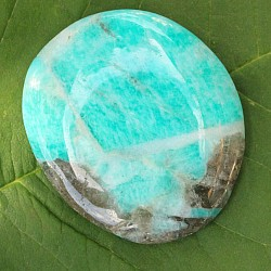 Amazonite flat stones with matrix