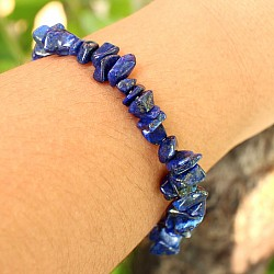 Lapislazuli Bracelet small irregular beads, chips
