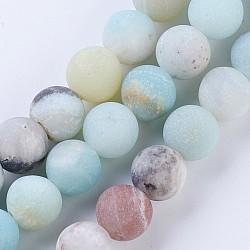 Amazonite chinese, Gemstone Beads 8mm matt