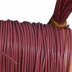 Lederband  Ziege  1 Meter  dunkelblau  1,5 mm dick  Ziegenleder