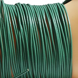 Leather ribbon goat 1 Meter 1,5mm green