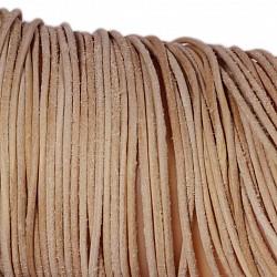 Leather ribbon goat 1 Meter 1,5mm natural brown