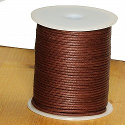 Cotton Cord 1.5mm 50 Meter red brown