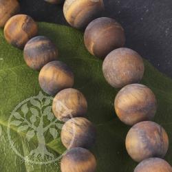 Golden Tigereye jewelry beads strand 12mm MAT A+
