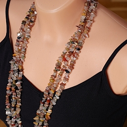 Rutilated Quartz Multicolor Necklace 85cm