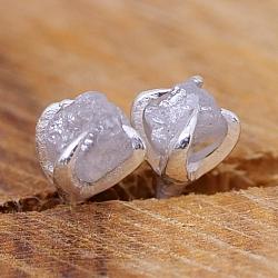 Diamant Ohrstecker kleiner Rohdiamant