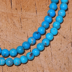 Turquoise Beads AAA 4mm Round Beads finest quality