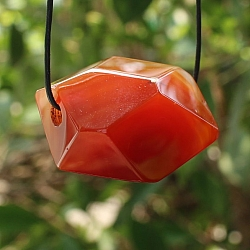Carnelian pendant 30/33x23/27mm Large Bead Faceted