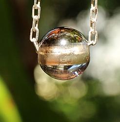 Smoke quartz Ball Pendant Stones 10mm