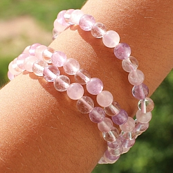 Crystal Rose Quartz Amethyst Gemstone Bracelet 6mm