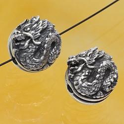 Silver Beads Dragon Sterlingsilver 925