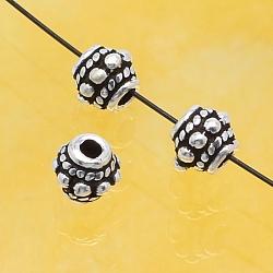 Silver Beads Oxidized Flat Flower 5mm