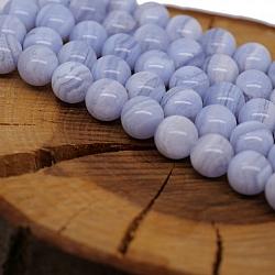 Gemstone-Beads, Chalcedon 10mm AA-Quality Blue Laze Agate