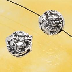 Silver Beads Dargon Sterlingsilver 925 10mm