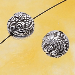 Silver Beads Fish Sterlingsilver 925 10mm
